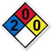 NFPA 704 Hazmat Diamonds Safety Sign