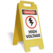 Danger High Voltage W/Graphic Fold-Ups® Floor Sign