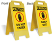 Caution Do Not Enter W/Graphic Fold-Ups® Floor Sign