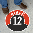 Aisle ID 12 Floor Sign