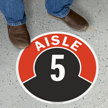 Aisle ID 5 Floor Sign