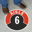Aisle ID 6 Floor Sign