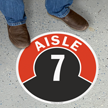 Aisle ID 7 Floor Sign
