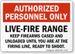 Live-Fire Range Sign