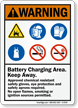 Battery Charging Area, Keep Away Warning Sign