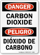 Bilingual Carbon Di Oxide Dióxido De Carbono Sign
