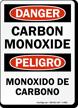 Bilingual Carbon Monoxide Sign