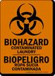Bilingual Contaminated Laundry Biohazard Sign