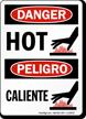 Hot / Caliente Danger Bilingual Sign