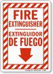 Bilingual Fire Extinguisher Extinguidor De Fuego Sign