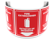 180 Degree Projecting Fire Extinguisher Sign, Bilingual