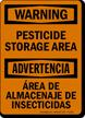 Bilingual Pesticide Storage Area Sign