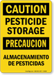Pesticide Storage Almacenamiento De Pesticidas Sign