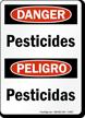 Bilingual Danger Pesticides Sign