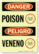 Danger / Peligro Bilingual Poison Sign