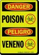 Danger / Peligro Bilingual Poison Sign