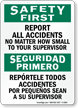Bilingual Report Accidents No Matter How Small Sign