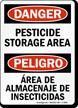 Bilingual OSHA Danger Pesticide Storage Area Sign
