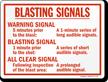 Warning Signal Safety Sign