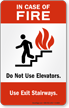 In Case of Fire (stair symbol)