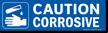 Magnetic Cabinet Label: Caution Corrosive