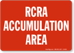 RCRA Accumulation Area Sign