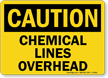 Caution: Chemical Lines Overhead