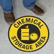 Chemical Storage Area SlipSafe Floor Sign