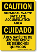 Chemical Waste Satellite Accumulation Area Sign