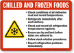 Chilled And Frozen Foods Guidelines Sign