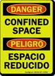 Glow Danger / Peligro Confined Space (Bilingual)