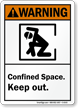 Confined Space Keep Out Warning Sign
