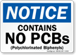 Notice: Contains No PCBs (Polychlorinated Biphenyls)