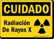 Cuidado Radiacion Rayos X Sign
