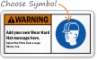 Add your Wear Hard Hat message Sign