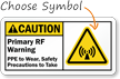 Custom ANSI Rf Warning Sign