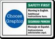 Custom Bilingual Safety First Seguridad Primero Sign