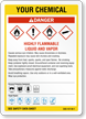 Customizable GHS Chemical Danger and Target Organs Sign