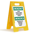 Personalized Bilingual Add Emergency Wording Here Sign