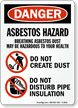 OSHA Danger Asbestos Hazard Breathing Sign