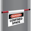 Danger Confined Space Door Barricade Sign