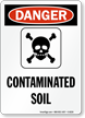 Danger Contaminated Soil Sign
