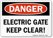 Danger Electric Gate Sign