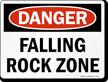 Danger: Falling Rock Zone Danger Sign