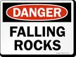 Danger Falling Rock Sign