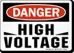 Danger High Voltage Sign