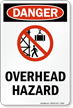 Danger Overhead Hazard Sign