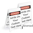 Danger Blank Reversible Fold-Ups Floor Sign
