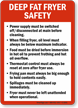 Deep Fat Fryer Safety Guidelines Sign