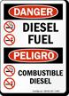 Danger Diesel Fuel Bilingual Sign